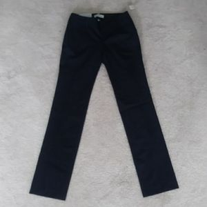 Gap new size 0 navy straight 2 way stretch pants
